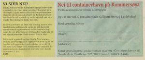 Nei til conteinerhavn