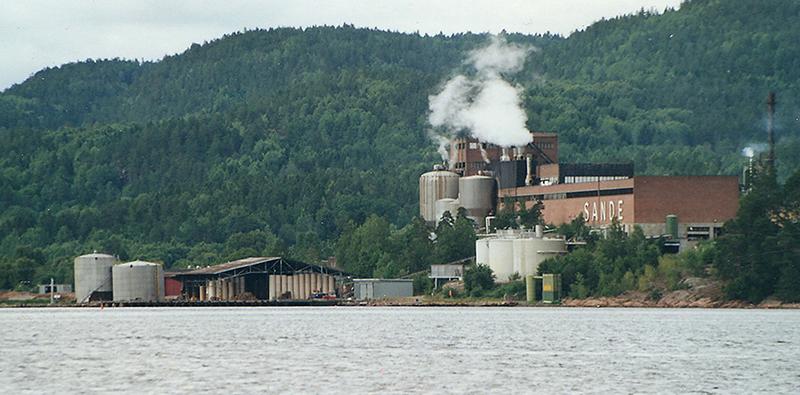 Sande Paper Mill gikk konkurs i 2002