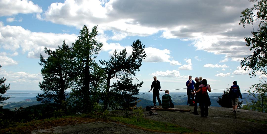 Utsikten fra Montebello er verdt turen opp